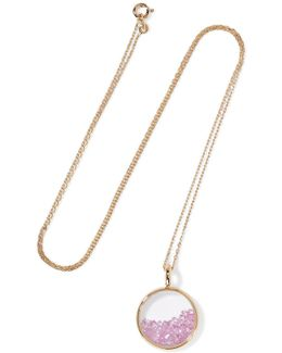 Baby Chivor 18-karat Gold Sapphire Necklace