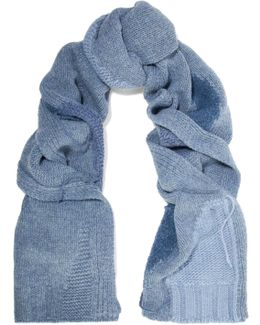 Olina Patchwork Wool-blend Scarf