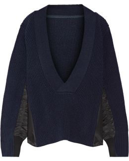 Shell-trimmed Wool Sweater