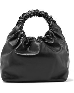 Double Circle Small Leather Tote