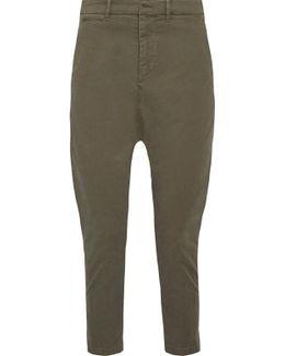 Jackson Cropped Stretch-cotton Twill Pants