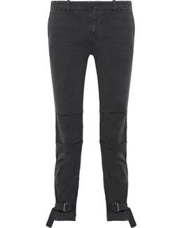 Bradley Buckle-embellished Cotton-blend Skinny Pants