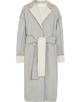 Two-tone Wool And Cashmere-blend Coat
