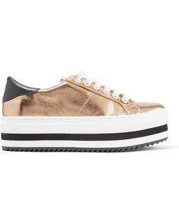 Grande Metallic Leather Platform Sneakers