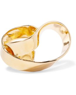 Overlap Script Gold-plated Ring