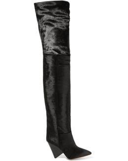 Lostynn Calf Hair Over-the-knee Boots