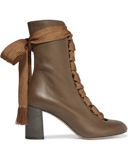 Harper Textured-leather Ankle Boots
