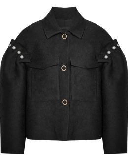 Bennett Faux Pearl-embellished Jacquard Jacket