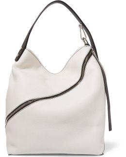 Hobo Medium Textured-leather Shoulder Bag
