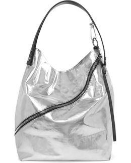 Hobo Metallic Leather Shoulder Bag