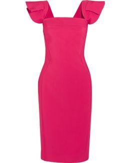 Ruffled Stretch-crepe Dress