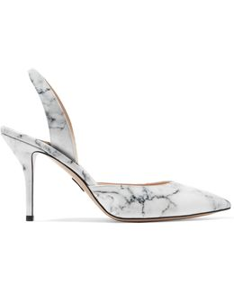 Passion Marble-effect Patent-leather Pumps