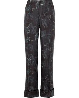 Etere Printed Silk-twill Pajama Pants