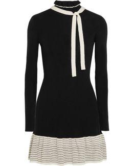 Knitted Wool Mini Dress