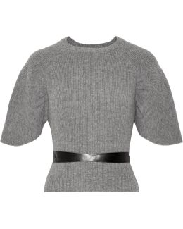 Belted Wool Sweater