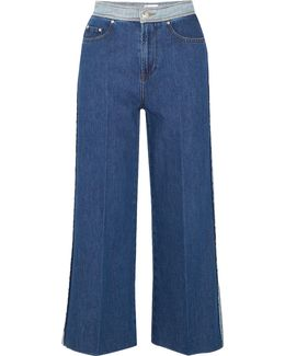 Wide-legged Cropped Jeans