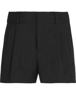 Wool-gabardine Shorts