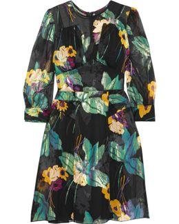 Blithe Spirit Fil Coupé Silk-blend Chiffon Mini Dress