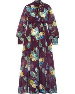 Blithe Spirit Fil Coupé Silk-blend Chiffon Midi Dress
