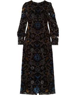 Devoré Velvet Maxi Dress
