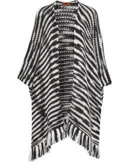 Striped Wool-blend Wrap
