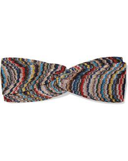 Twist-front Crochet-knit Headband
