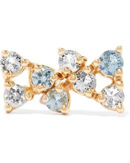 Bias 14-karat Gold Sapphire Earring