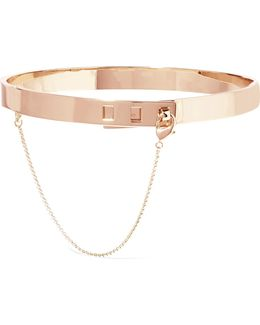 Safety Chain Rose Gold-plated Choker