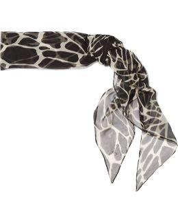 Printed Silk-muslin Scarf