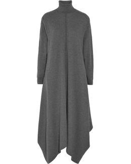 Oversized Wool Turtleneck Maxi Dress