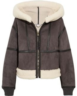 Hooded Faux Shearling Jacket