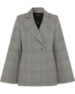 Boycott Prince Of Wales Checked Wool Blazer