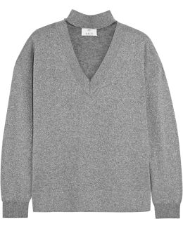 Metallic Wool-blend Sweater