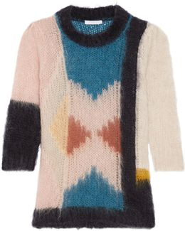 Intarsia Mohair-blend Sweater