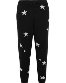 Star-intarsia Cashmere Track Pants