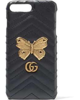 Gg Marmont Embellished Quilted Leather Iphone 7 Plus Case