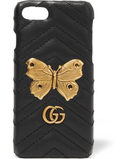 Embellished Quilted Leather Iphone 7 Case