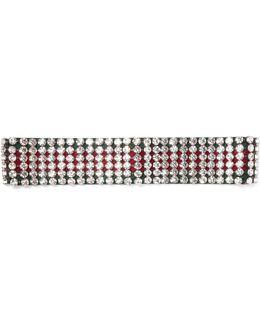 Crystal-embellished Ribbed-knit Headband