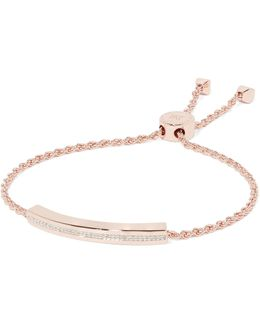 Linear Rose Gold Vermeil Diamond Bracelet