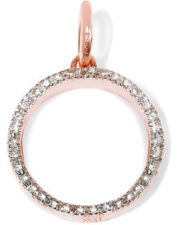 Naida Circle Rose Gold Vermeil Diamond Pendant