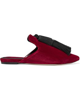 Racine Tasseled Velvet Slippers