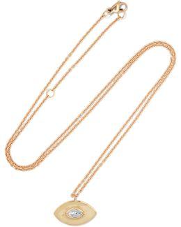 Talisman 18-karat Gold, Diamond And Enamel Necklace