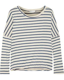 Lounge Striped Jersey Pajama Top