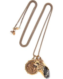 Gold-plated Stone Necklace