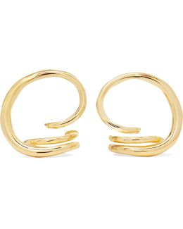 Round Trip Gold-dipped Earrings