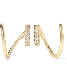 Lila Twirl 18-karat Gold Diamond Earrings