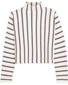 Jacquard-knit Turtleneck Sweater