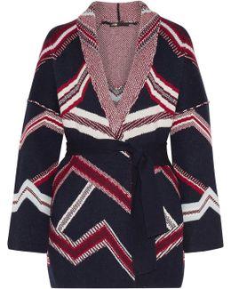 Reversible Jacquard-knit Cardigan