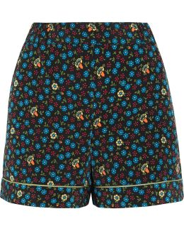 Floral-print Poplin Shorts
