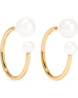 Petite Boucle Kelly 14-karat Gold Pearl Earrings